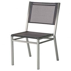 1EQ.500 Equinox Side Chair Charcoal Sling Graphite Frame Barlow Tyrie 1 | Avant Garden