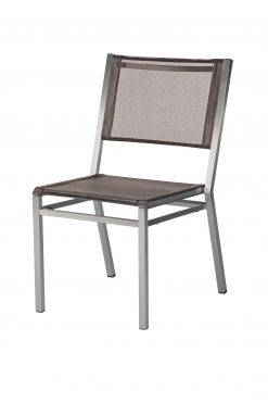 1EQ.504 Equinox Side Chair Platinum Sling & Graphite Frame by Barlow Tyrie (4) | Avant Garden