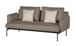 Layout Double Seat Low Arms Deep Seating Carbon Beige Sunbrella by Barlow Tyrie (1) | Avant Garden