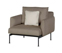 Layout Single Seat Deep Seating Carbon Beige Sunbrella Low Seat by Barlow Tyrie (1) | Avant Garden
