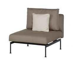Layout Single Bench Deep Seating Lounge Carbon Beige Sunbrella by Barlow Tyrie (1) | Avant Garden