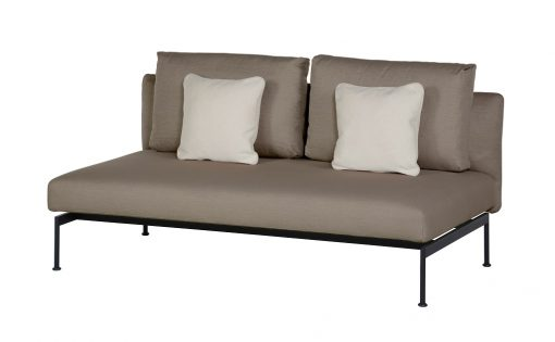 Layout Double Bench Deep Seating Lounge Carbon Beige Sunbrella by Barlow Tyrie (1) | Avant Garden