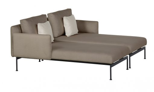 Layout Double Chaise Low Arms Deep Seating Lounge Carbon Beige by Barlow Tyrie (1)   Avant Garden