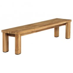 Titan Backless Bench Rustic Teak by Barlow Tyrie (2) | Avant Garden