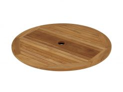 Drummond Lazy Susan 110 Circular Solid Teak by Barlow Tyrie (1) | Avant Garden