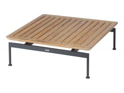 Layout 80 Low Table Square with Teak Top by Barlow Tyrie (1) | Avant Garden