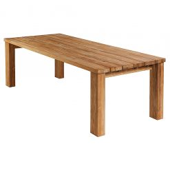 Titan 240cm Rectangular Dining Table Rustic Teak by Barlow Tyrie (5) | Avant Garden