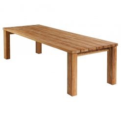 Titan 300cm Rectangular Dining Table Rustic Teak by Barlow Tyrie (5) | Avant Garden