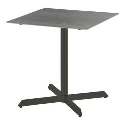 Equinox Graphite Frame Pedestal 70 Square Table Powder Coated by Barlow Tyrie 1 | Avant Garden