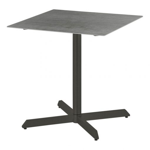 Equinox Graphite Frame Pedestal 70 Square Table by Barlow Tyrie 1 | Avant Garden