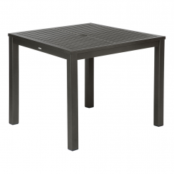 Aura 90cm Graphite Aluminium Table (Top & Frame) by Barlow Tyrie (1) | Avant Garden