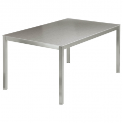 Equinox 1.5x1m Dusk Ceramic Top Table & Graphite Frame by Barlow Tyrie 1 | Avant Garden