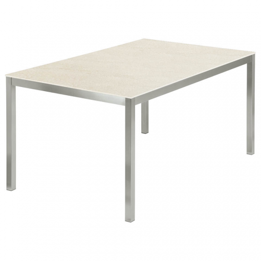 Equinox 1.5x1m Frost Ceramic Top Table by Barlow Tyrie 1 | Avant Garden