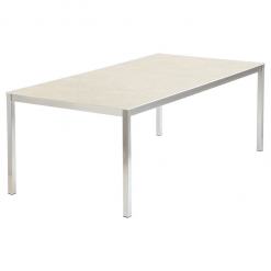 Equinox 2x1m Frost Ceramic Top Table by Barlow Tyrie 1 | Avant Garden