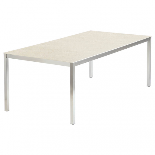 Equinox 2x1m Frost Ceramic Top Dining Table by Barlow Tyrie 1 | Avant Garden