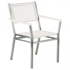 Equinox Armchair Arctic White by Barlow Tyrie 1 | Avant Garden