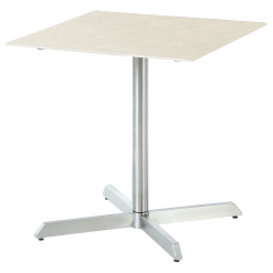 Equinox Pedestal Table Frost Ceramic Top by Barlow Tyrie 1 | Avant Garden