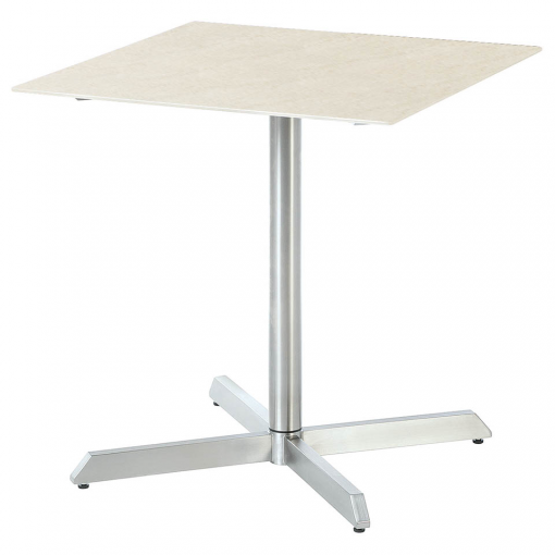 Equinox Pedestal Table 70 sq Frost by Barlow Tyrie 1 | Avant Garden