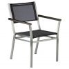 Equinox Armchair Charcoal Sling & Graphite Armrest by Barlow Tyrie 1 | Avant Garden