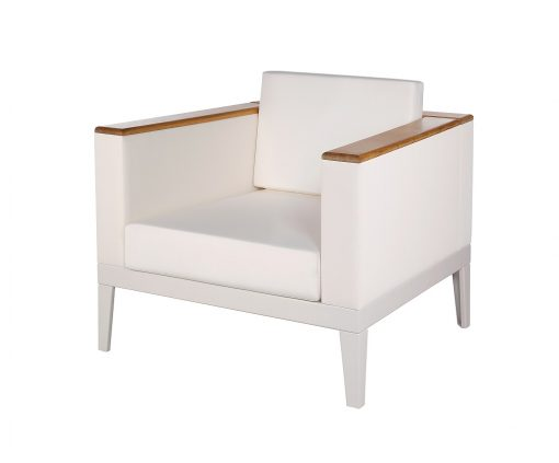 Aura Armchair Deep Seating Lounge Pearl & Arctic White Frame by Barlow Tyrie (1) | Avant Garden