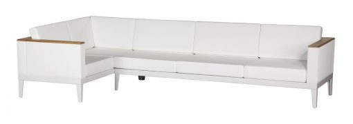 Aura Pearl Five Seater Sofa Deep Seating Arctic White Frame by Barlow Tyrie (1) | Avant Garden