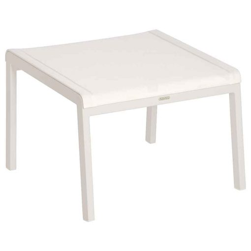 Aura Pearl Sling Arctic White Frame Lounge Footstool by Barlow Tyrie (1) | Avant Garden