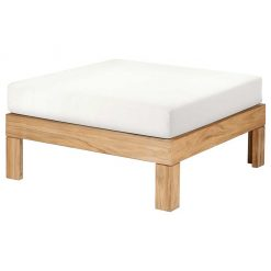 Linear Ottoman Lounge Deep Seating Solid Teak Waterproof Cushions by Barlow Tyrie (1) Avant Garden