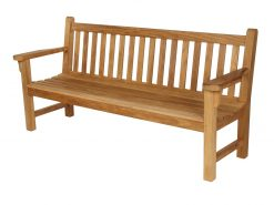 London Bench 180 Solid Teak Garden Seat by Barlow Tyrie (1) | Avant Garden