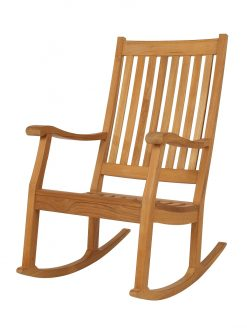 Newport Rocking Chair Solid Teak by Barlow Tyrie (1) | Avant Garden