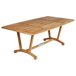 Chesapeake 200 Dining Table Rectangular Solid Teak by Barlow Tyrie (1) | Avant Garden