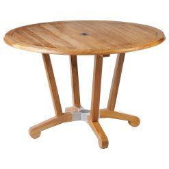 Chesapeake 120 Circular Dining Table Solid Teak by Barlow Tyrie (1) | Avant Garden