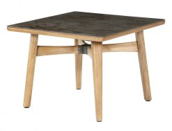 Monterey 100 Oxide Ceramic Solid Teak Dining Table by Barlow Tyrie (1) | Avant Garden