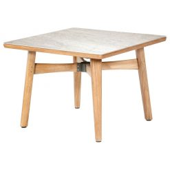 Monterey 100 Frost Ceramic Solid Teak Table by Barlow Tyrie (1) | Avant Garden