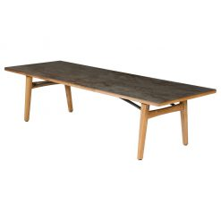 Monterey 300 Oxide Ceramic Solid Teak Rectangular Dining Table by Barlow Tyrie (1) | Avant Garden