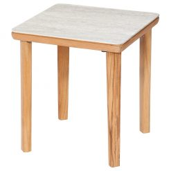 Monterey Frost 50 Square Ceramic Top Teak Table by Barlow Tyrie (1) | Avant Garden