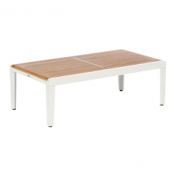 Aura 120 Arctic White Low Table Rectangular by Barlow Tyrie (1) | Avant Garden