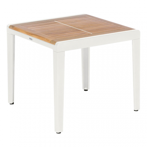 Aura 60 Low Arctic White Square Side Table by Barlow Tyrie (1) | Avant Garden