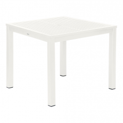 Aura 90 Arctic White Aluminium Dining Table by Barlow Tyrie (1) | Avant Garden