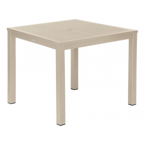 Aura Champagne 90 Square Aluminium  Dining Table by Barlow Tyrie (1) | Avant Garden