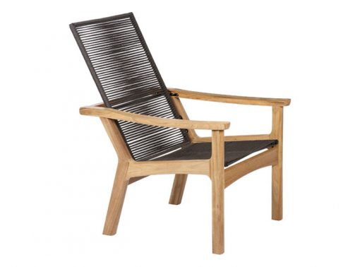 Monterey Brown Cord Armchair Deep Seating by Barlow Tyrie (1) | Avant Garden