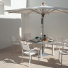 Equinox 180 Circular Arctic White Dining Suite Lifestyle by Barlow Tyrie (1) | Avant Garden