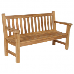 London Bench 150 Solid Teak Garden Seat by Barlow Tyrie (1) | Avant Garden