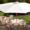 Napoli 350 Circular Parasol Lifestyle by barlow Tyrie (1) | Avant Garden