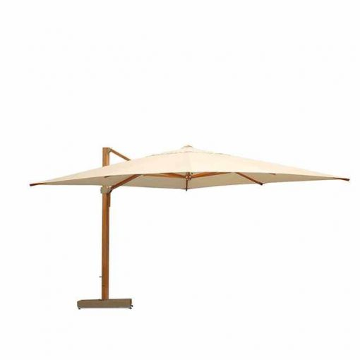 Napoli 4m Cantilever Parasol Canvas Coloured Canopy by Barlow Tyrie (1) | Avant Garden