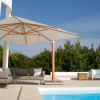 Napoli Cantilever Parasol Canvas Coloured Canopy Lifestyle by Barlow Tyrie (1) | Avant Garden