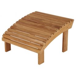 Adirondack Footrest Solid Teak by Barlow Tyrie (1) | Avant Garden