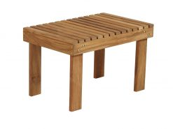Adirondack 62 Side Table Solid Teak by Barlow Tyrie (1) | Avant Garden