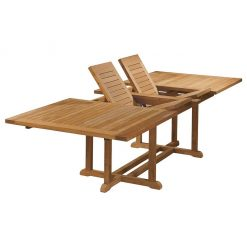 Arundel 285 Extending Dining Table Rectangular Solid Teak by Barlow Tyrie (1) | Avant Garden