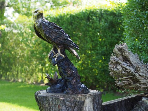 BI 88 Solid Bronze Eagle Perched Sculpture (1) | Avant Garden