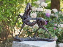 High Step Modern Art Horse Solid Bronze Sculpture (1) | Avant Garden